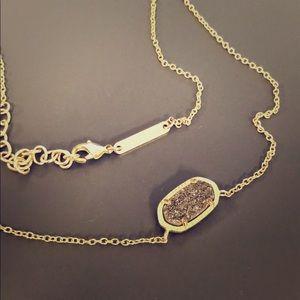 Kendra Scott Elisa Black Sparkle Necklace